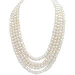 Freshwater Cultured Cultured Pearl Necklace in Silver