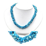 50.00 Cts Turquoise Necklace in Silver