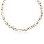 Womens Fancy Chain in 14K Two Tone Gold