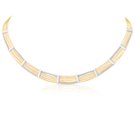Reversible Cable Necklace in 14K Two Tone Gold