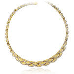 Womens Fancy Necklace in 14K Two Tone Gold