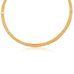 Cable Necklace in 14K Two Tone Gold