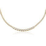Womens Fancy Braided Necklace in 14K Two Tone Gold