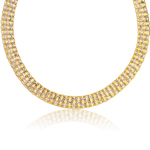 Panther Necklace in 14K Two Tone Gold