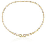 Celtic Necklace in 14K Two Tone Gold