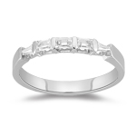 Five Stone Ring - 0.42 Ct Diamond Five Stone Ring