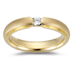 Solitaire Band - 0.20 Ct Diamond Solitaire Wedding Band