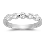 Five Stone Ring - 1/2 Ct Diamond Five Stone Ring