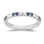 Sapphire Band - 0.27 Ct Diamond & 0.56 Ct Sapphire Wedding Band