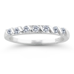 0.28 Ct Diamond Wedding Band in 18K White Gold