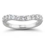 2/3 Cts Diamond Wedding Band in 18K White Gold