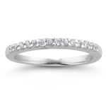 2/3 Ct Diamond Wedding Band in 18K White Gold