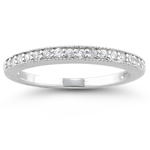 1/4 Ct Diamond Wedding Band in 18K White Gold
