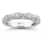 0.63 Ct Diamond Wedding Band in 18K White Gold