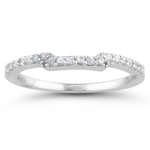 0.15-0.20 Cts  SI2 - I1 clarity and I-J color Diamond Wedding Band in 18K White Gold