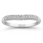 0.22 Ct Diamond Wedding Band in 18K White Gold