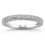 0.16 Ct Wedding Band in 18K White Gold