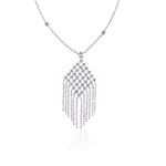 Balinese Bead Necklace in 14K White Gold