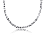 Classico Braided Necklace in 14K White Gold