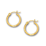Gold Huggie Earrings in 14K Yellow Gold