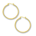 2 mm Gold Classic Hoop Earring in 14K Yellow Gold (45 mm)