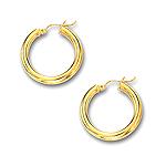 Gold Huggie Earrings in 14K Yellow Gold