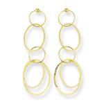 Gold Dangle Earrings in 14K Yellow Gold