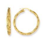 Gold Milgrain Earrings in 14K Yellow Gold