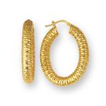 Gold Designer Earrings in 14K Yellow Gold