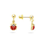 Gold Princess Childrens Earrings in 14K Yellow Gold