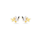 Gold Prince and Princess Childrens Earrings in 14K Two Tone Gold