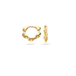 Gold Children's Designer Hoop Earrings in 14K Yellow Gold
