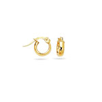 Gold Children's Shinny Hoop Earrings in 14K Yellow Gold