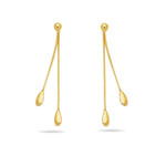 Gold Matching Earrings in 14K Yellow Gold