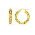 Gold Hoop Earrings in 14K Yellow Gold