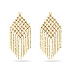 Gold Balinese Bead Earrings in 14K Yellow Gold