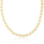 Long Luscious Link Necklace in 14K Yellow Gold