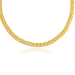 Panther Necklace in 14K Yellow Gold