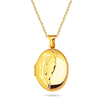 Gold Pendant in 14K Yellow Gold