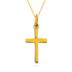 Gold Cross Pendant in 14K Yellow Gold