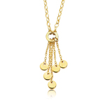 Coin Necklace in 14K Yellow Gold