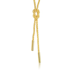 Love Knot String Necklace in 14K Yellow Gold
