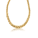 Womens Fancy Graduated Necklace in 14K Yellow Gold