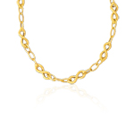 Flat Wheat Chain Necklace in 14K Yellow Gold