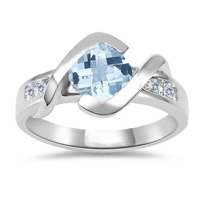 Aquamarine Rings Aquamarine Engagement Rings March Birthstone Ring