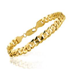 Italian Men S Bracelet In 14k Yellow Gold
